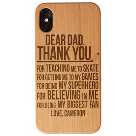 Hockey Engraved Wood IPhone® Case - Dear Dad