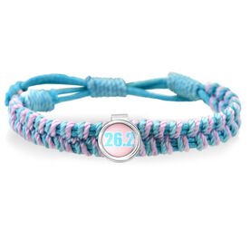 26.2 Pink Chevron Adjustable Woven SportSNAPS Bracelet