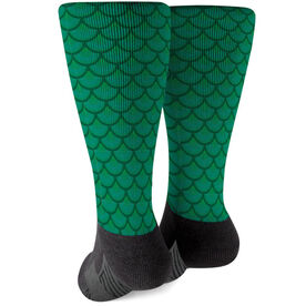 Printed Mid-Calf Socks - Mermaid Scales