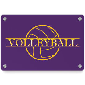 Volleyball Metal Wall Art Panel - Crest