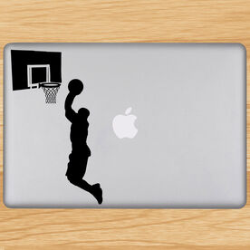 Dunking Basketball Removable ChalkTalkGraphix Laptop Decal