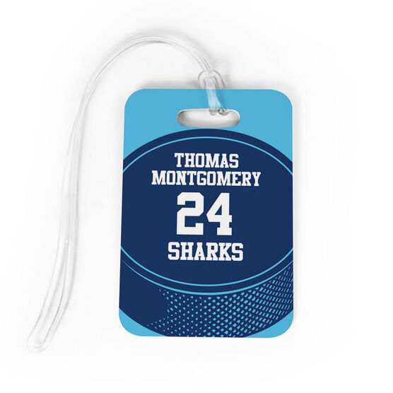 Hockey Bag/Luggage Tag - Personalized Hockey Team Puck