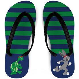 Running Flip Flops Tortoise and Hare