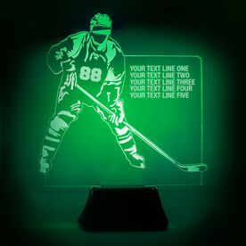 Hockey Acrylic LED Lamp Player With 5 Lines