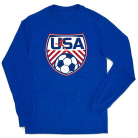 Soccer Tshirt Long Sleeve - Soccer USA