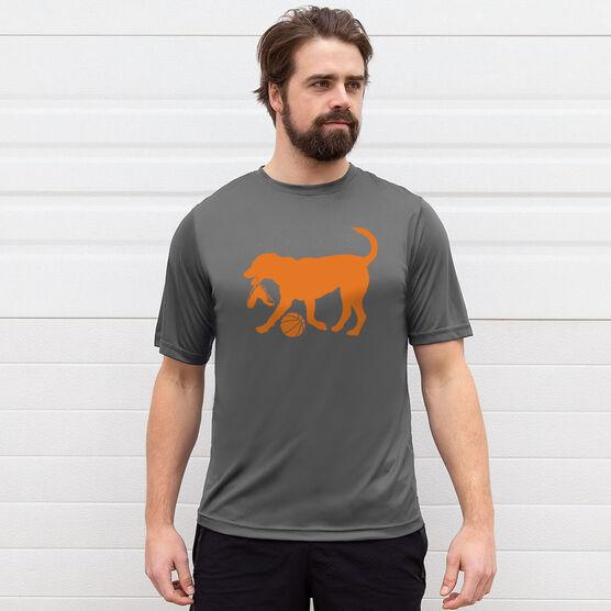 Basketball Short Sleeve Performance Tee - Baxter The Basketball Dog