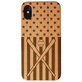 Baseball Engraved Wood IPhone® Case - USA Baseball
