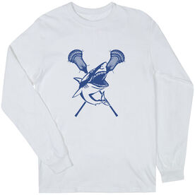 Guys Lacrosse Long Sleeve T-Shirt - Lax Shark