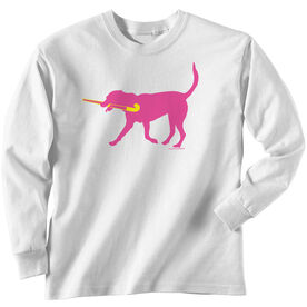 Field Hockey Tshirt Long Sleeve Fetch the Field Hockey Dog