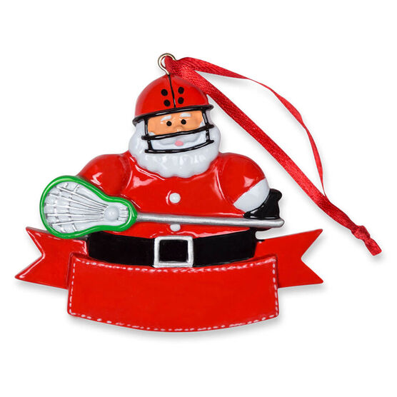Guys Lacrosse Ornament - Lacrosse Player Santa