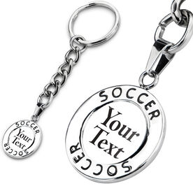 Soccer Circle Keychain Your Text