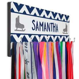Figure Skating Hook Board Your Name with Skates Chevron