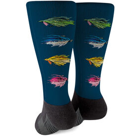 Fly Fishing Printed Mid-Calf Socks - All Stocked Up