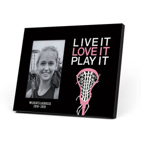 Girls Lacrosse Photo Frame - Live it Love it Play It