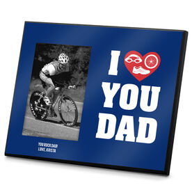 Triathlon Photo Frame I Heart You Dad TRI
