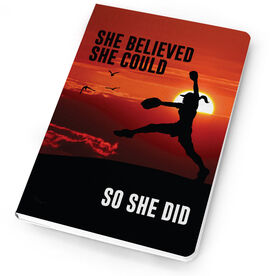Softball Notebook She Believed She Could So She Did Pitcher