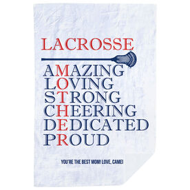 Guys Lacrosse Premium Blanket - Mother Words