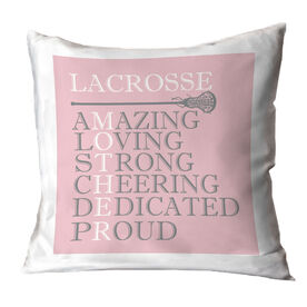 Girls Lacrosse Throw Pillow - Mother Words