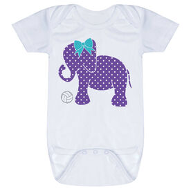 Volleyball Baby One-Piece - Volleyball Elephant with Bow
