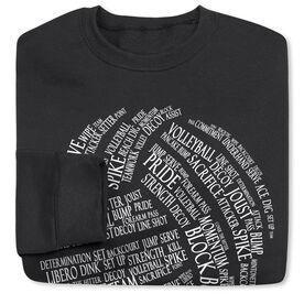 Volleyball Crew Neck Sweatshirt - Volleyball Words