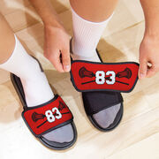 Guys Lacrosse Repwell® Slide Sandals - Crossed Sticks with Number