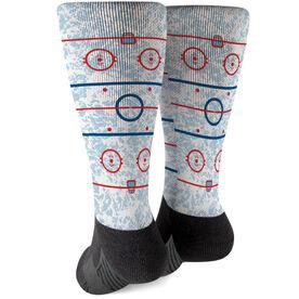 Hockey Printed Mid-Calf Socks - Rink
