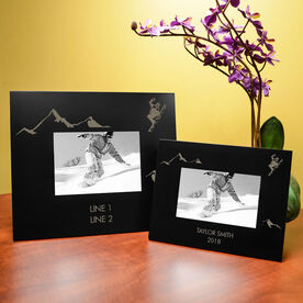 Snowboarding Engraved Picture Frame - Snowboarder