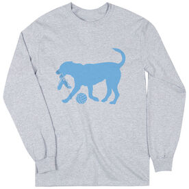 Volleyball Tshirt Long Sleeve Holly The Volleyball Dog