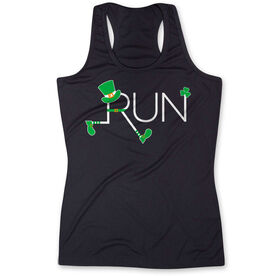 Women's Performance Tank Top - Let's Run Lucky