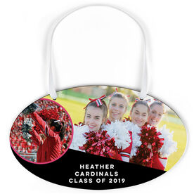 Cheerleading Oval Sign - Class Of Team and Player Photo