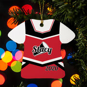 Cheerleading Ornament - Personalized Jersey