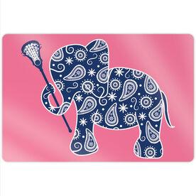 "Girls Lacrosse 18"" X 12"" Aluminum Room Sign - Lax Elephant"