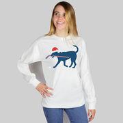 Hockey T-Shirt Long Sleeve Christmas Dog