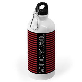Volleyball 20 oz. Stainless Steel Water Bottle - Word With Stripes