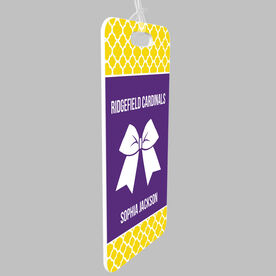 Cheerleading Bag/Luggage Tag - Personalized Cheer Squad with Bow