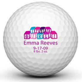 It's A Girl! Blocks Golf Balls