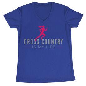 Cross Country  Women's Short Sleeve Tech Tee My Life (Female)