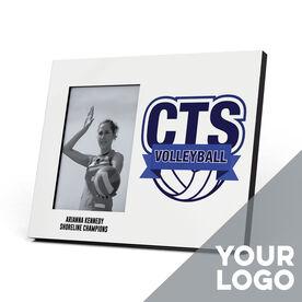 Volleyball Photo Frame - Custom Logo