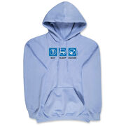 Soccer Hooded Sweatshirt - Eat Sleep Soccer