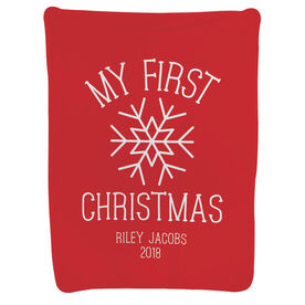 Personalized Baby Blanket - My First Christmas