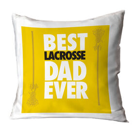 Girls Lacrosse Pillow Best Dad Ever