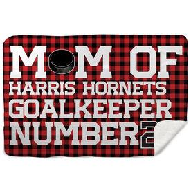 Hockey Sherpa Fleece Blanket - Personalized Hockey Mom