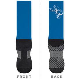 Baseball Printed Mid-Calf Socks - Catcher