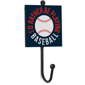 Baseball Medal Hook - I'd Rather Be Playing Baseball