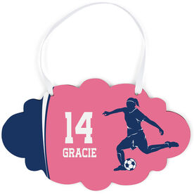 Soccer Cloud Sign - Personalized Soccer Girl