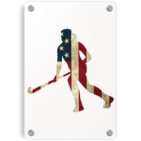 Field Hockey Metal Wall Art Panel - Play For The USA