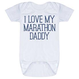 Running Baby One-Piece - I Love My Marathon Daddy