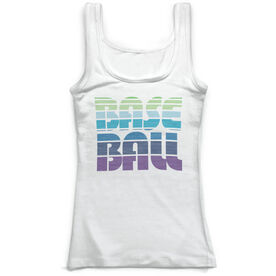 Baseball Vintage Fitted Tank Top - Retro Baseball
