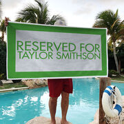 Personalized Premium Beach Towel - Reserved For