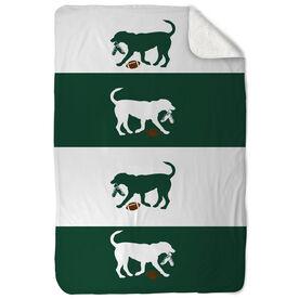 Football Sherpa Fleece Blanket Dog Fan